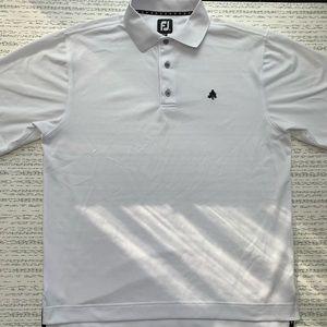 FootJoy White Shirt Sleeve Golf Polo Shirt